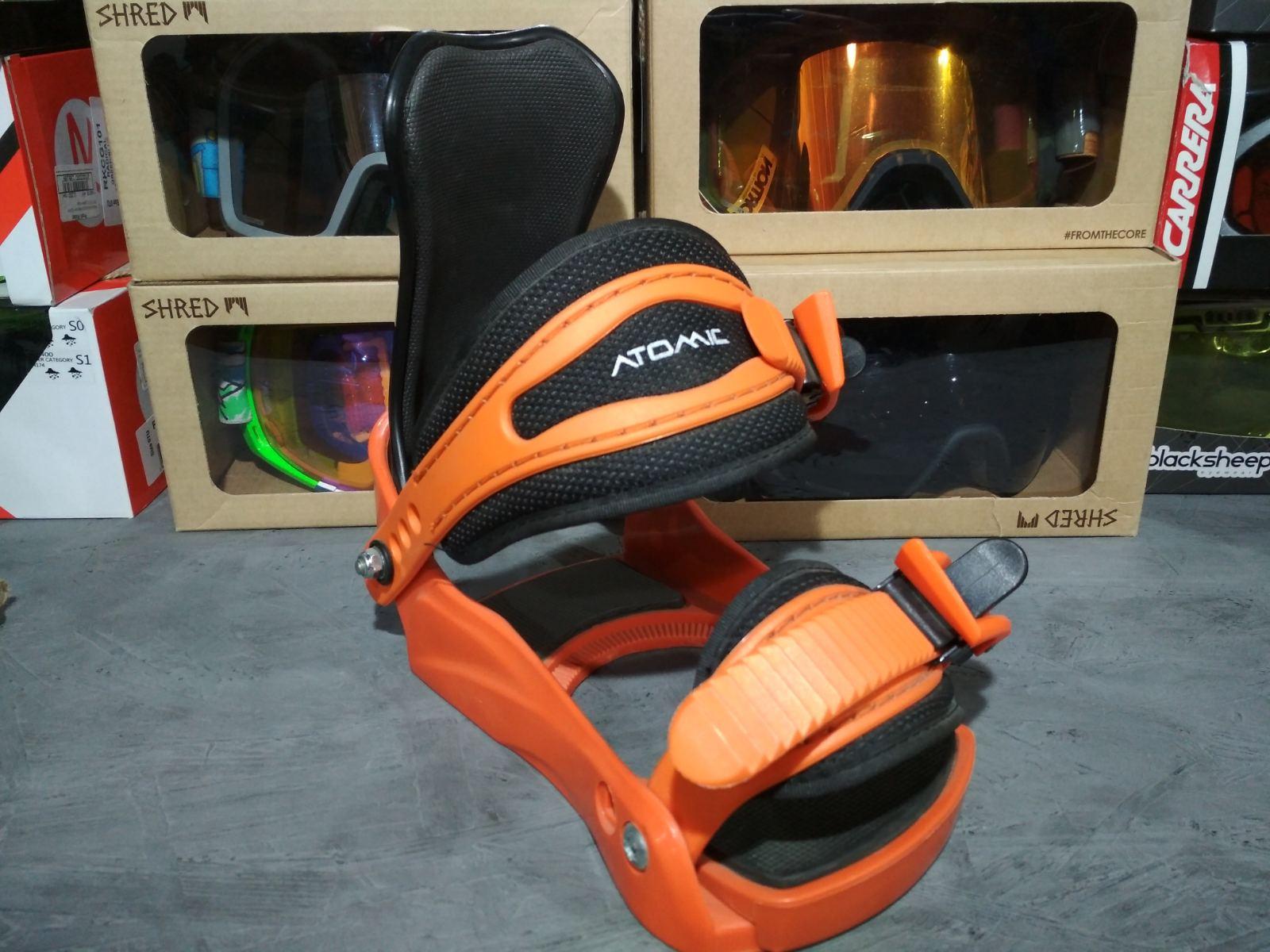 Сноубордические крепления Atomic Half Pint (оранжевые)